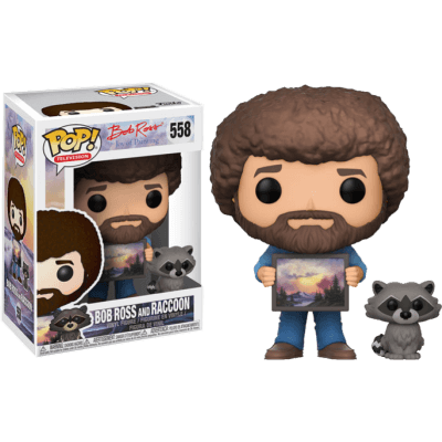 Pop Figure Bob Ross Bob Ross with Raccoon** Chase(Bob with Hoot) 1:6