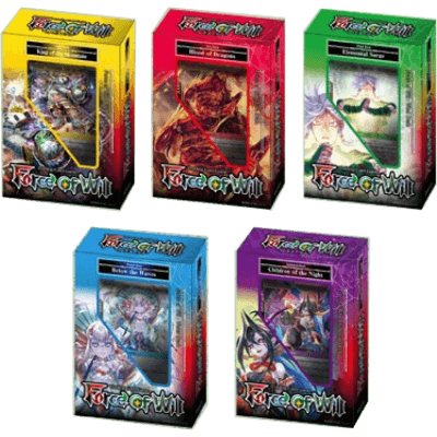 Force of Will New Legend Precipice Cluster Starter Display Box (5 Mixed Decks)